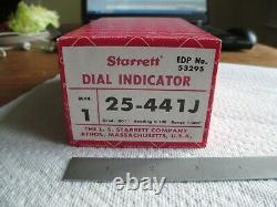 Starrett Dial Indicator 25-441J, 1 Range, Great Condition
