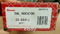 Starrett Dial Indicator 25-5041J 5'' Range With Original Box EDP 53312 Free Ship