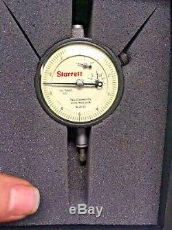 Starrett Dial Indicator 25-511 With 657 Magnetic Base Stand 0 to 0.200 0-5-0