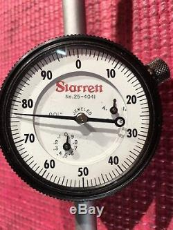 Starrett Dial Indicator 4 in Range With 2.25 DIA FACE Model 25-4041J