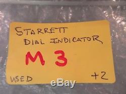 Starrett Dial Indicator 655-881j Metric 25mm. 01mm Cal Exp Feb 2018 Jeweled Used