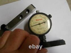 Starrett Dial Indicator Depth Gage. 0001 4 & 8 Bases. Used