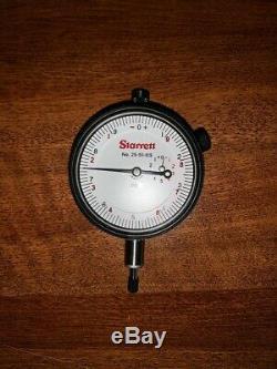 Starrett Dial Indicator, Graduation 0001, Flat Back, 25-511-619