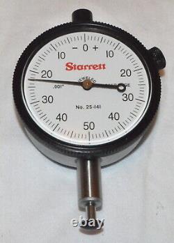 Starrett Dial Indicator, Model 25-141J New
