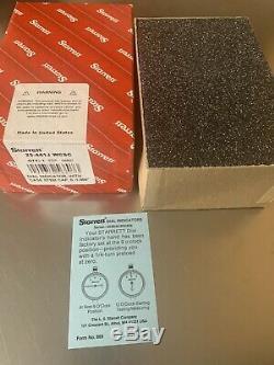 Starrett Dial Indicator No. 25-441J WCSC EDP 56807, WithCase Stem Cap, 0-1.000