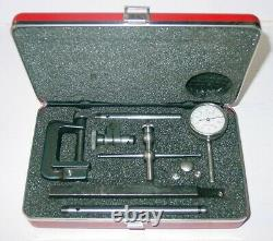 Starrett Dial Indicator with Case & Attachments, 196A1Z, 196, Back Plunger, Kit