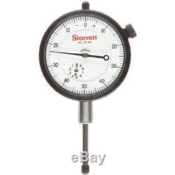 Starrett Dial Indicators 25-431J Dial Indicator, 0.375 Stem Dia, Lug-on-Center
