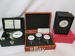 Starrett Dial Indicators Lot Set In Original Case/box Test Equipment Tool Biddle