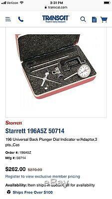 Starrett Dial Test Indicator