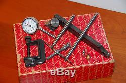 Starrett Dial Test Indicator Kit 196a1z Case & Box, Near Mint Condition