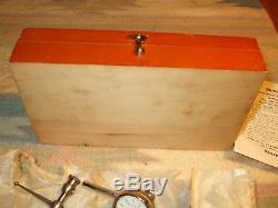 Starrett Dial Test Indicator No. 196 SET Unused Wood Box