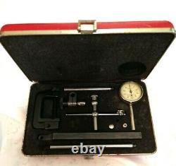 Starrett Dial Test Indicator no. 196.001 Grad Jeweled + Accessories & Case