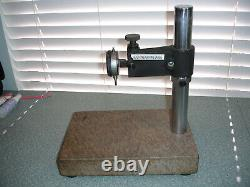 Starrett Granite Surface Plate Indicator Stand 12 X 8 with Mitutoyo 2410-60 dial