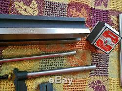Starrett Inspection Set 665 BASE 657 MAGNETIC 25-141 DIAL INDICATOR Swivel POSTS