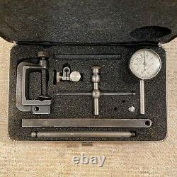 Starrett Jeweled 196 Dial Test Kit Universal Back Plunger In Original Case