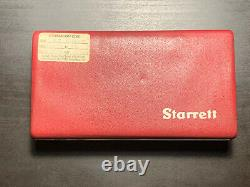 Starrett Last Word 711 Dial Indicator AND 657 Push-Off Magnetic Base Holder