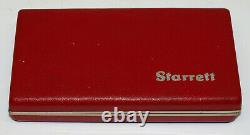 Starrett Last Word 711 Dial Test Indicator Set. 0005 Tested Excellent Condition