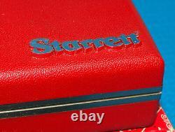 Starrett Last Word 711 Dial Test Indicator Set. 0005 Tested. Raised Letter Case