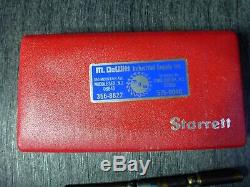 Starrett Last Word Dial Indicator Set No. 711.001 Mint Condition Machinist Tools