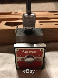 Starrett Magnetic Base No. 657 With No. 196 Dial Indicator