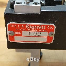 Starrett Model 1102 Dial Indicator Diameter Gage, 1-12 Length Range USED