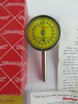 Starrett NEW No 196MB Universal Dial Test. 01mm Back Plunger Indicator EDP 56306