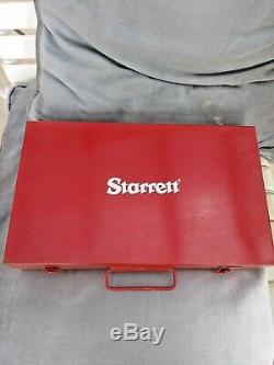 Starrett NO 665 Series Dial Test Indicator with 8.5 Cast Iron Base CLEAN