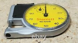 Starrett No. 1010 M dial indicator pocket gage Made in U. S. A metric