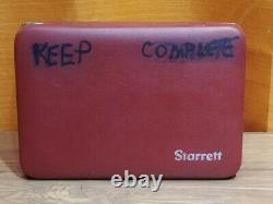 Starrett No. 196.001 Grad Jeweled Dial Test Indicator Case & Attachments