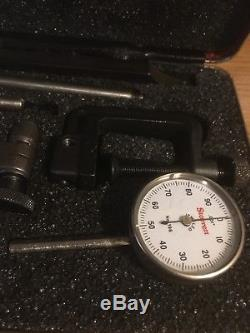 Starrett No. 196 Back plunger Dial Indicator Set With Attachments. 001