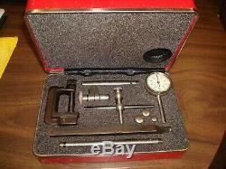 Starrett No. 196 Dial Indicator Gauge Set Excellent Condition