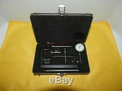 Starrett No 196 Dial Test Indicator Set. 001 Jeweled, Case & Attachments USA