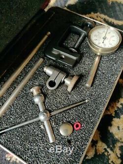 Starrett No. 196 Test Dial Indicator Set Vintage Machinist Tools Case
