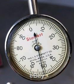 Starrett No. 196 dial indicator with a Kanetsu magnetic base with flexible post