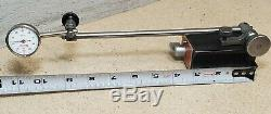 Starrett No. 196 indicator set with a Brown and Sharpe No. 7743 magnetic base