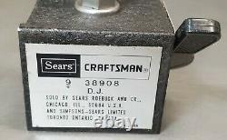 Starrett No. 196 indicator with a Craftsman No. 9 38908 magnetic base