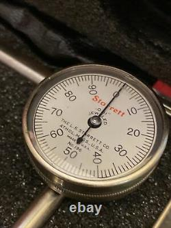Starrett No. 196A Universal Dial Test Indicator Set. 001'', 0 -100 Reading