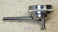 Starrett No. 196M dial indicator set MINT. 02 mm