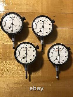 Starrett No. 25-441/5.001 1/2 Travel Dial Indicators Qty. 4