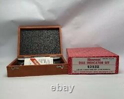 Starrett No. 253 Three Piece Dial Indicator Set With Case
