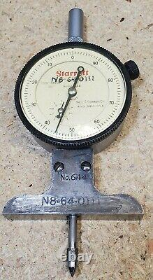 Starrett No. 644-441 dial depth gage indicator type 0 3.001 Made in USA