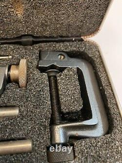 Starrett No. 645 Back Plunger Dial Indicator Set Excellent Condition