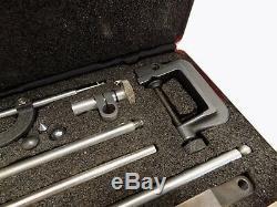 Starrett No. 645 Heavy Duty Dial Test Indicator Set. 001'', Complete Set In Case