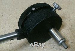 Starrett No. 645 dial indicator set, complete, back plunger