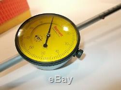 Starrett No. 655-5081J Dial Indicator, 125 mm Range. 01mm 2 1/2 dial face