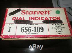 Starrett No. 656-109J. 015 Range. 00005 USA Dial Indicator