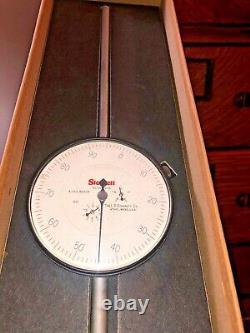 Starrett No. 656 5041J 5 Long Range Dial Indicator. 001 Grad. 0 to 100 EXC