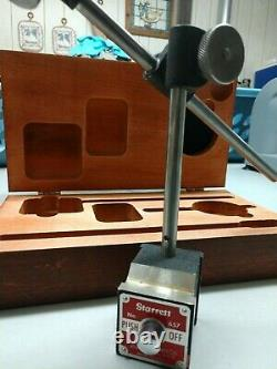 Starrett No. 657 Magnetic Base No. 25-131 Dial Indicator in case. Made in U. S. A