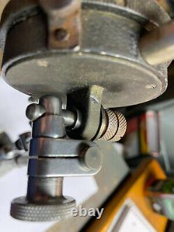 Starrett No. 657 Magnetic Indicator Base WithFine adj. Dial Indicators & Clamps