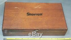Starrett No. 657A magnetic base with No. 711 last word in a wooden protective box